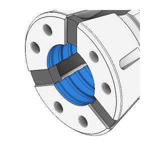 Otwór cylindryczny - rowki poprzeczne EO