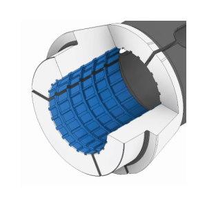 Otwór cylindryczny - rowki poprzeczno-wzdłużne EL