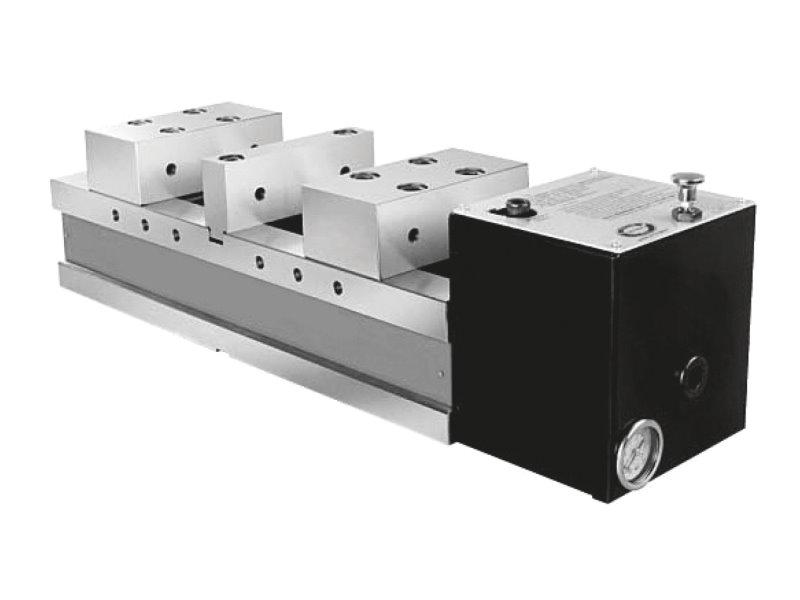 Imadła maszynowe pneumatyczne z podwójnym mocowaniem DPSP